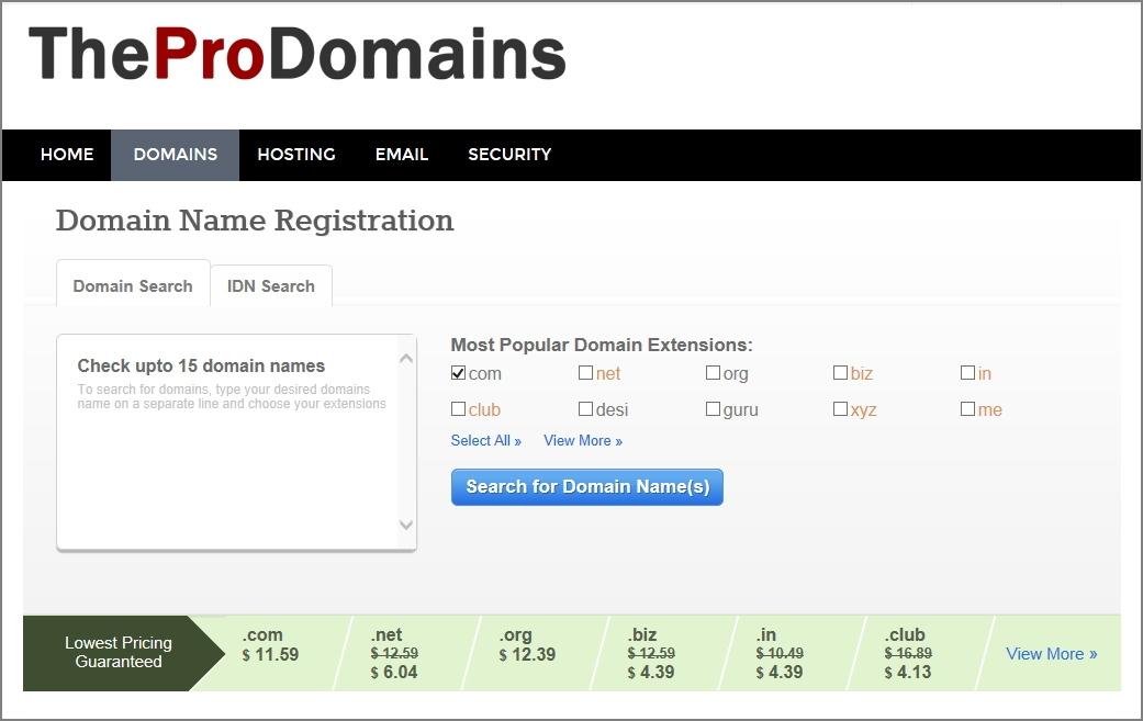 TheProDomains.com